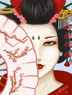 geisha japanese drawings asian tattoo drawing deviantart gueixa japan prints paintings painting chinese easy hair desenho adult artwork fan coloring