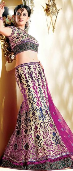 Dark Beige and Rani #Pink Net A-Line #Lehenga Choli with Dupatta @ $171.76 | Shop Now @ http://www.utsavfashion.com/store/sarees-large.aspx?icode=ldw361a