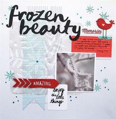 Aqua and Red Winter Scrapbook Layout|Cari Locken for Silhouette copy