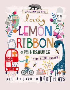 Beep Beep! Come and see Lemon Ribbon at Printsource :)