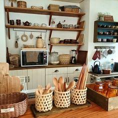 slow-lifeさんの、カトラリー収納,台所,かご,キッチン,のお部屋写真