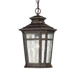 Home Decorators Collection Waterton 1-Light Outdoor Dark Ridge Bronze Hanging Lantern-23124 - The Home Depot