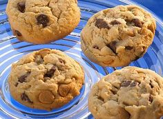 Double Peanut Butter and Milk Chocolate Chip Cookies Recipe