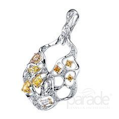 Fancy diamond pendant from Parade Design. #fashion #diamonds #jewelry