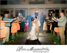 McGarity House Paris Mountain Photography Wedding Details Send off Sparklers