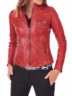 HOT Women's Genuine Lambskin Real Leather Motorcycle Slim fit Biker Jacket WN21 #WesternOutfit #Motorcycle #EveryDay