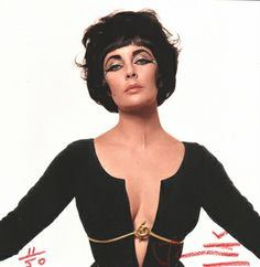 Elizabeth Taylor as Cleopatra by Bert Stern