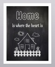 Take a look at this 'Home is Where the Heart is' Picket Fence Print by Posie & Co. on #zulily today!