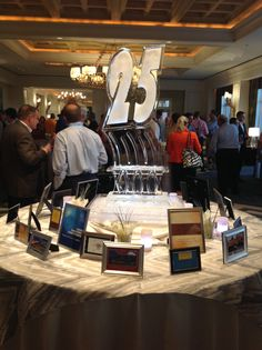 A walk down memory lane. Conference themes from the past on display. @ritzcarlton