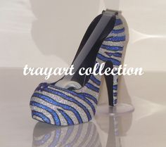 Zebra Pattern High Heel Shoe TAPE DISPENSER Stiletto Platform - office supplies - trayart collection. $29.50, via Etsy.