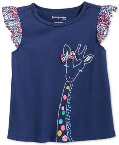 First Impressions Baby Girls' Giraffe T-Shirt, Only at Macy's