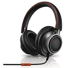 Philips L2BO/27 Fidelio High Fidelity Headphones with Mic and Memory foam cushioning, Black/Orange #tech