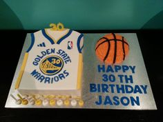 Golden State Warriors cake My husband's 30th birthday cake made by my talented sister #amazing