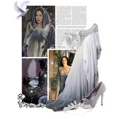 """""""Evenstar"""" by arneia on Polyvore I would be all over this like a rash, if I could wear pastels and whites, without looking albino!"""