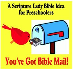 Coming up with a creative Bible idea for preschoolers is always fun! Here is a fun way to introduce any Bible theme you would like to share. Preschool Bible Lessons, Bible Lessons For Kids, Preschool Activities, Sunday School Classroom, Sunday School Crafts, Oldest Bible, Bible Study For Kids, Fun Mail, Church Nursery