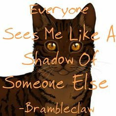 Everyone Sees Me Like A Shadow Of Someone Else -Brambleclaw by @SissyCat210