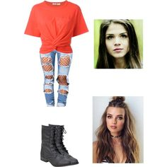Modern Outfit - Dating Octavia Blake by directioner-for-life-23072010 on Polyvore featuring mode, T By Alexander Wang, GET LOST, modern, modernday, the100 and octaviablake