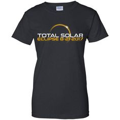 Be ready for the First Total Solar Eclipse in 99 years with this solar eclipse t shirt, available in the sky nearest you.  Watch the total solar eclipse on August 21st 2017 with this unique gift total solar eclipse t shirt August 21st 2017, solar eclipse, astronomy, science, circle, nerdy, geeky, fun space t shirt   Please refer to sizing chart 2nd photo. *****Womens Tees are Fitted Style for a less snug fit order a size up. Vist our shop for matching Coffee Mugs and Necklaces https:/&#x...