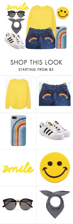 """Big Girls don't cry!"" by lululafitte ❤ liked on Polyvore featuring MANGO, Marc Jacobs, adidas Originals, Hollywood Mirror, Illesteva and donni charm"