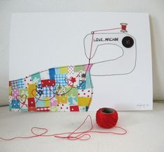 Love machine  art print by syko on Etsy, €7.50  @Diana Casassa This is a cute idea for Aunt Deb