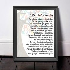 Childcare Thank You, Gift For Teacher, Thank You Gift, Babysitter Gift, Teacher Appreciation, Nursery Teacher Gift, A Parent's Thank You by PrintsInspiredByMyah on Etsy
