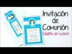 INVITACION DE COMUNION EN WORD 2 - YouTube