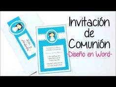 INVITACION DE COMUNION EN WORD 2 - YouTube