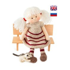 Knitting pattern Doll Toy knitting pattern Knitted doll PDF  Doll DIY tutorial Knitted doll making /Maggie, the Magic Doll by KnitAmiracle on Etsy https://www.etsy.com/listing/519150675/knitting-pattern-doll-toy-knitting