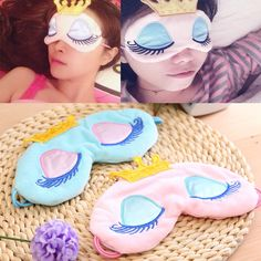 New Eyes Cover Princess Crown Style Travel Sleeping Blindfold Shade Eye Mask November Birthday Party, Eye Cover Sleep, Diy Eye Mask, Felt Roses, Baby Pillows, Girls Camp, Baby Store, Sleep Mask, Sewing For Kids