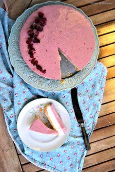 Cheesecake frio de frutos vermelhos (ligeiro)