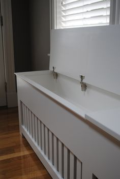 Radiator Cover Bench with Storage