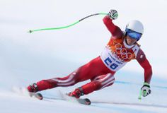 DAY 10:  Carlo Janka of Switzerland competes during the Alpine Skiing Men's Super-G http://sports.yahoo.com/olympics