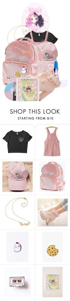 """Crybaby"" by cute-but-psycho-123 ❤ liked on Polyvore featuring Dollhouse, WithChic, Lime Crime, Boohoo, Felt Good Co., Urban Outfitters and Usagi"