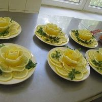 Stylish Board These Lemon Flowers will be Great to Garnish Your Food