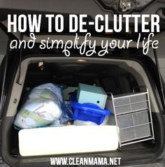 Get rid of the stuff and create some breathing room - DECLUTTER!  via Clean Mama