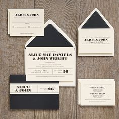Ticket Wedding Invitation Suite I created for Paper Source in 2011