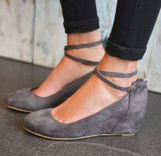 Ankle Strap Covered Wedges