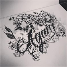 The Best Spot to Get Your Ink - Tattoo Studio in Bangkok Chest Tattoo Lettering, Tattoo Lettering Design, Graffiti Lettering Fonts, Hand Lettering Alphabet, Name Tattoo Designs, Tattoo Script, Lettering Styles, Typography, Chicano Drawings