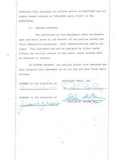 Pin by law offices of lloyd j jassin on old publishing contracts william mad magazine author agreement platinumwayz