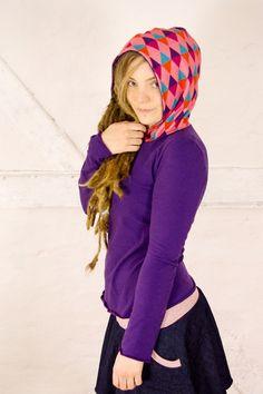 Organic Hoodie - purple