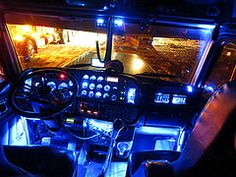 The Office (jr-transport) Tags: blue chicken lights led chrome custom peterbilt 379x