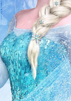 Disney Frozen Elsa,hair dress details