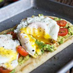 Egg and Avocado Flatbread