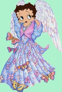 Beautiful Betty Boop Angel Photo #cartoons #illustration ✿⊱╮