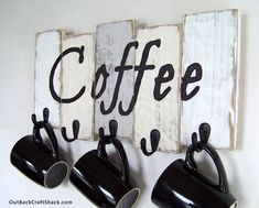 Kitchen Decor, Coffee Cup Holder, Kitchen Storage, Coffee Mug Holder, Mug Rack, Rustic Décor, Housewarming Gift, Custom orders welcome! by OutBackCraftShack on Etsy https://www.etsy.com/listing/238855870/kitchen-decor-coffee-cup-holder-kitchen