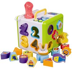 Shape Sorter Learning Game (from 1 yr old). A Classic Shape Game for Toddlers. Great 1st Birthday Present or Christmas Gift for 12 month old and older.