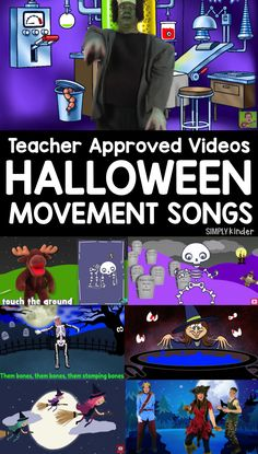 It's Halloween and that means your students may need to get the wiggles out. Here is your Halloween Teacher Approved Videos List that is great for movement! Preschool Music, Fall Preschool, Kindergarten Activities, Preschool Themes, Halloween Dance, Theme Halloween, Halloween Ideas, Halloween Carnival, Scary Halloween