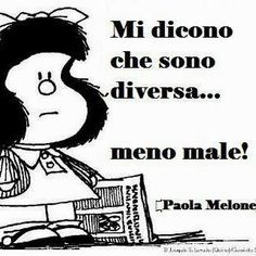 Mafalda on pinterest ios snoopy and learning italian - Frasi sull essere diversi ...