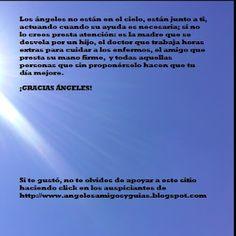 ÁNGELES AMIGOS Y GUÍAS: MENSAJE DEL DÍA    Los ángeles no están en el ciel...