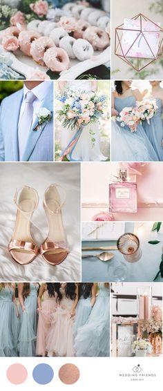 Rose Quartz, Serenity Blue & Rose Gold   Inspiration